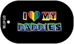 Love My Daddies Rainbow Wholesale Novelty Metal Dog Tag Necklace DT-4736