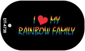 Rainbow Family  Wholesale Novelty Metal Dog Tag Necklace DT-4738