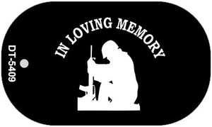 In Loving Memory Sitting Wholesale Novelty Metal Dog Tag Necklace DT-5409
