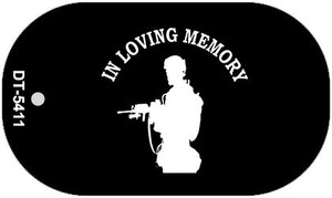 In Loving Memory Standing  Wholesale Novelty Metal Dog Tag Necklace DT-5411