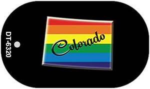 Colorado Rainbow State Wholesale Novelty Metal Dog Tag Necklace DT-6320