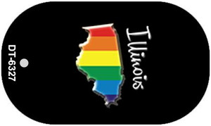 Illinois Rainbow State Wholesale Novelty Metal Dog Tag Necklace DT-6327
