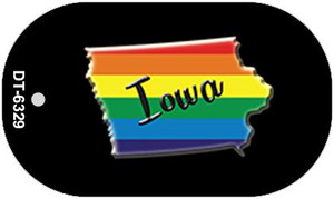 Iowa Rainbow State Wholesale Novelty Metal Dog Tag Necklace DT-6329