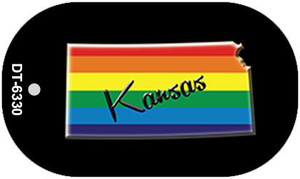 Kansas Rainbow State Wholesale Novelty Metal Dog Tag Necklace DT-6330