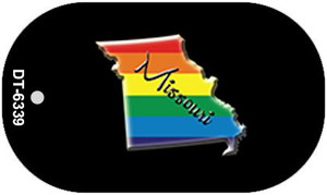 Missouri Rainbow State Wholesale Novelty Metal Dog Tag Necklace DT-6339
