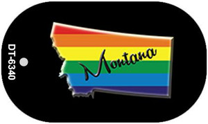 Montana Rainbow State Wholesale Novelty Metal Dog Tag Necklace DT-6340
