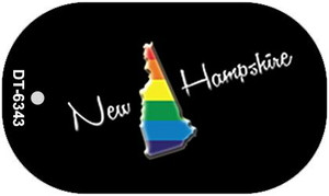 New Hampshire Rainbow State Wholesale Novelty Metal Dog Tag Necklace DT-6343