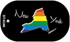 New York Rainbow State Wholesale Novelty Metal Dog Tag Necklace DT-6346