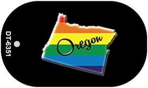 Oregon Rainbow State Wholesale Novelty Metal Dog Tag Necklace DT-6351