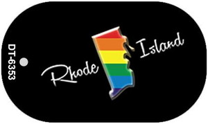 Rhode Island Rainbow State Wholesale Novelty Metal Dog Tag Necklace DT-6353