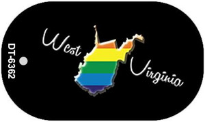West Virginia Rainbow State Wholesale Novelty Metal Dog Tag Necklace DT-6362