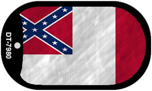 Third Confederate Flag Wholesale Novelty Metal Dog Tag Necklace DT-7980