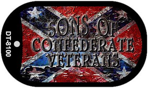 Sons Of Confederate Veterans Wholesale Novelty Metal Dog Tag Necklace DT-8100