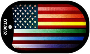 American Flag Rainbow Wholesale Novelty Metal Dog Tag Necklace DT-9002