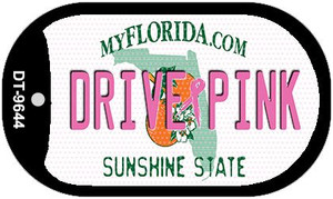 Drive Pink Florida Wholesale Novelty Metal Dog Tag Necklace DT-9644
