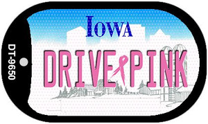 Drive Pink Iowa Wholesale Novelty Metal Dog Tag Necklace DT-9650