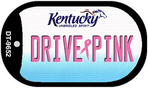 Drive Pink Kentucky Wholesale Novelty Metal Dog Tag Necklace DT-9652