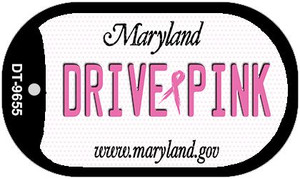 Drive Pink Maryland Wholesale Novelty Metal Dog Tag Necklace DT-9655