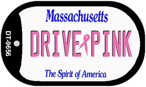 Drive Pink Massachusetts Wholesale Novelty Metal Dog Tag Necklace DT-9656
