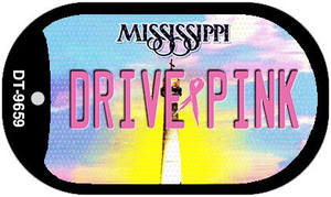 Drive Pink Mississippi Wholesale Novelty Metal Dog Tag Necklace DT-9659