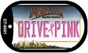 Drive Pink Montana Wholesale Novelty Metal Dog Tag Necklace DT-9661