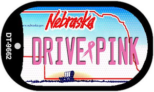 Drive Pink Nebraska Wholesale Novelty Metal Dog Tag Necklace DT-9662