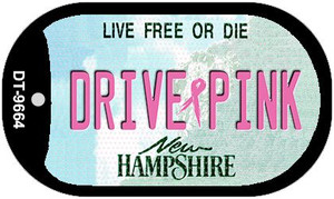 Drive Pink New Hampshire Wholesale Novelty Metal Dog Tag Necklace DT-9664