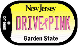 Drive Pink New Jersey Wholesale Novelty Metal Dog Tag Necklace DT-9665