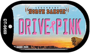 Drive Pink North Dakota Wholesale Novelty Metal Dog Tag Necklace DT-9669