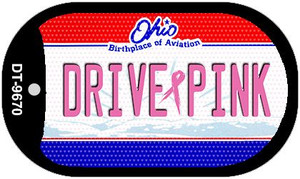 Drive Pink Ohio Wholesale Novelty Metal Dog Tag Necklace DT-9670