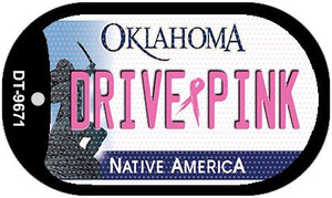 Drive Pink Oklahoma Wholesale Novelty Metal Dog Tag Necklace DT-9671