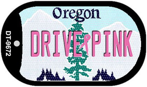 Drive Pink Oregon Wholesale Novelty Metal Dog Tag Necklace DT-9672