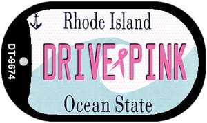 Drive Pink Rhode Island Wholesale Novelty Metal Dog Tag Necklace DT-9674