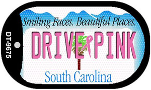 Drive Pink South Carolina Wholesale Novelty Metal Dog Tag Necklace DT-9675