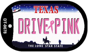 Drive Pink Texas Wholesale Novelty Metal Dog Tag Necklace DT-9678