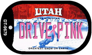 Drive Pink Utah Wholesale Novelty Metal Dog Tag Necklace DT-9679