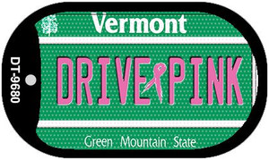 Drive Pink Vermont Wholesale Novelty Metal Dog Tag Necklace DT-9680
