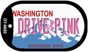 Drive Pink Washington Wholesale Novelty Metal Dog Tag Necklace DT-9682