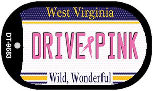 Drive Pink West Virginia Wholesale Novelty Metal Dog Tag Necklace DT-9683