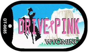 Drive Pink Wyoming Wholesale Novelty Metal Dog Tag Necklace DT-9685