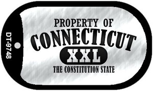 Property Of Connecticut Wholesale Novelty Metal Dog Tag Necklace DT-9748