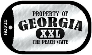 Property Of Georgia Wholesale Novelty Metal Dog Tag Necklace DT-9751