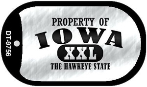 Property Of Iowa Wholesale Novelty Metal Dog Tag Necklace DT-9756