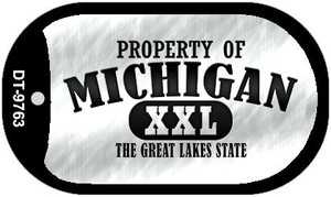 Property Of Michigan Wholesale Novelty Metal Dog Tag Necklace DT-9763