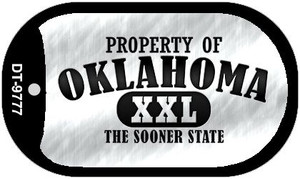 Property Of Oklahoma Wholesale Novelty Metal Dog Tag Necklace DT-9777