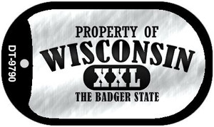 Property Of Wisconsin Wholesale Novelty Metal Dog Tag Necklace DT-9790