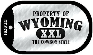 Property Of Wyoming Wholesale Novelty Metal Dog Tag Necklace DT-9791