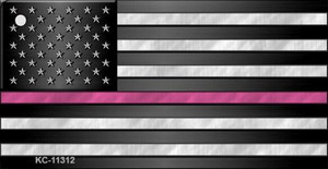 Thin Pink Line  Wholesale Novelty Metal Key Chain KC-11312