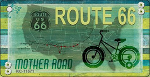 Route 66 Mother Road Wholesale Novelty Metal Key Chain KC-11571