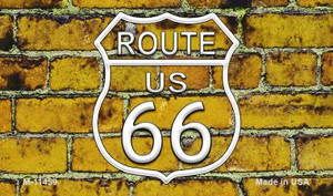 Route 66 Yellow Brick Wall Wholesale Novelty Metal Magnet M-11459